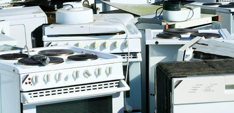 Scrapped Appliances In Landfill