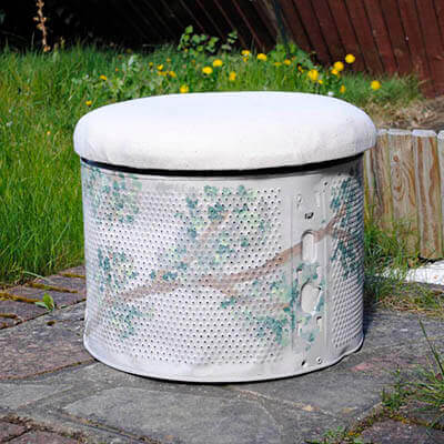 Washing Machine Drum As Footstool