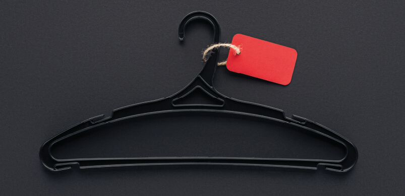 Black Hanger With Red Tag