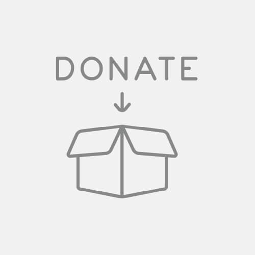 Cardboard Box With Donate On Top