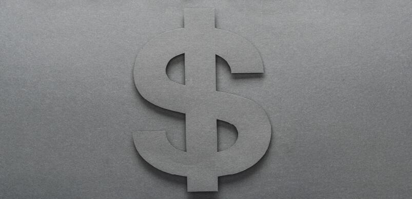 Dollar Sign On Grey Background