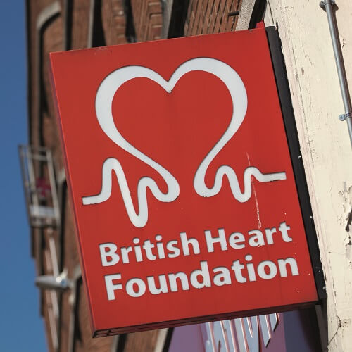 Store Sign For British Heart Foundation