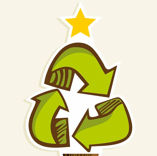 Recycling Symbol As Christmas Tree