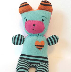 Teddy Made From Socks