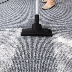 Vacuum Cleaner Cleaning Stains On Floor