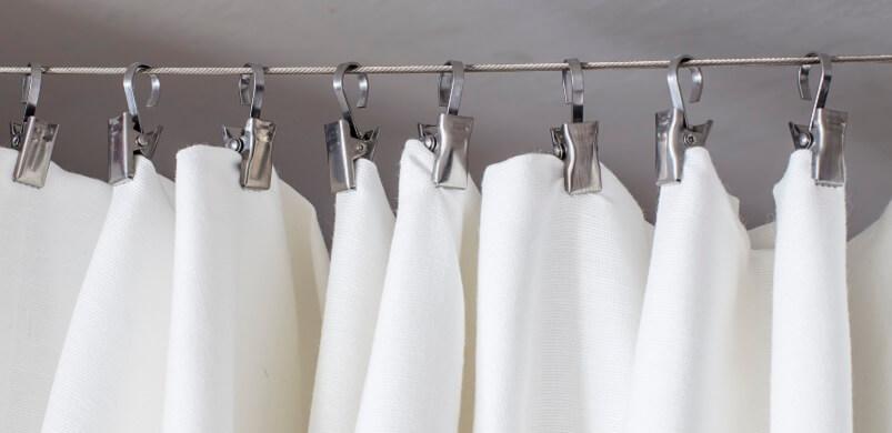 Shower Curtain On Hooks