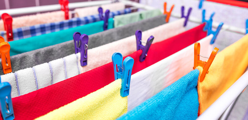 Bed Sheets Hanging to Dry