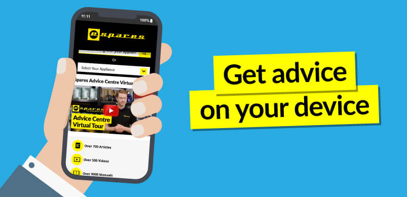 Espares App On Animated Phone