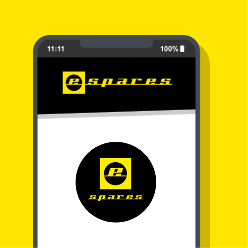 Animated Phone With Espares Logo And Icon