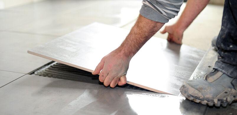Man Laying Tile