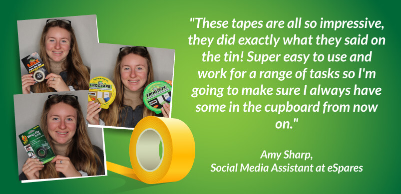 Image Of Amy With Tapes And Quote
