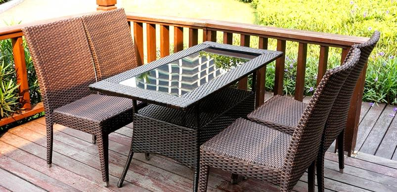 Glass Table on Patio