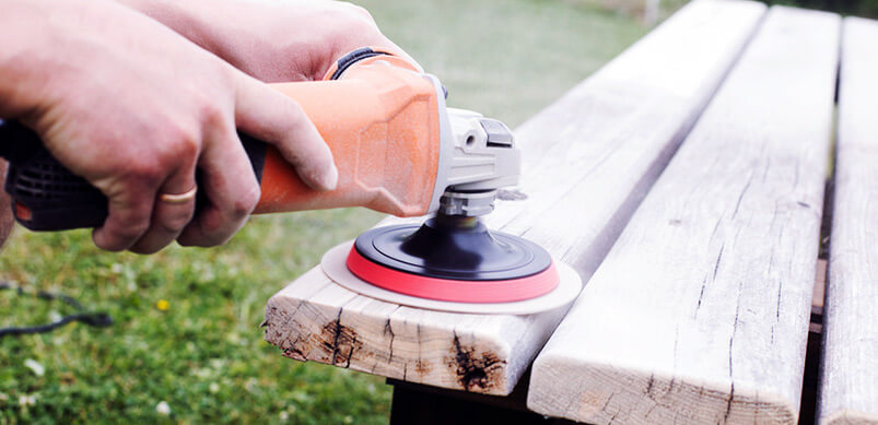 Electric Sander on Table