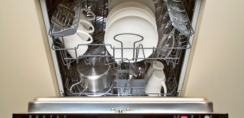 Full Open Dishwasher