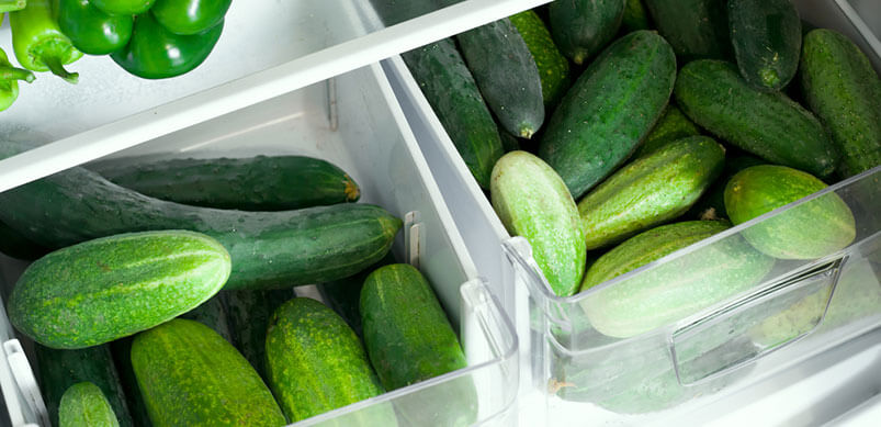 Vegetables in Fridge Drawers