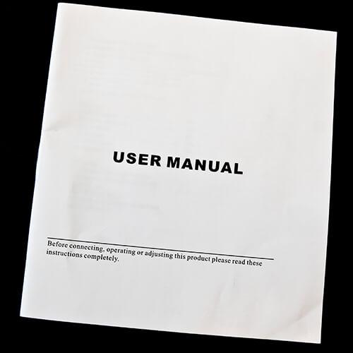User Manual On Black Background