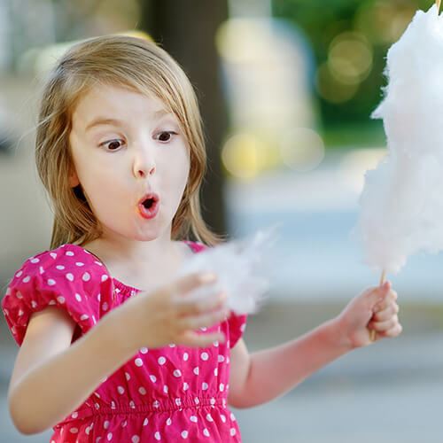 Young Girl With Candy Floss