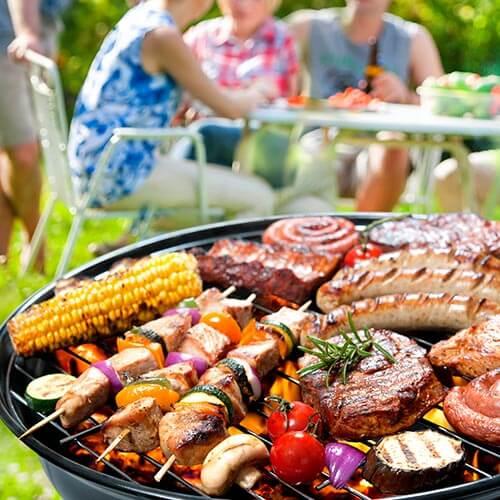 Friends Enjoying Barbecue