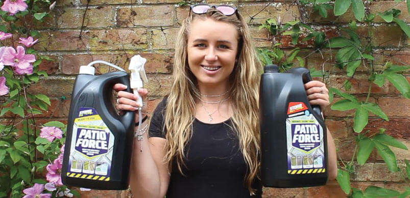 Amy Holding Patio Force Cleaners