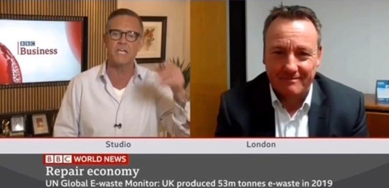 Andrew Sharp on BBC News
