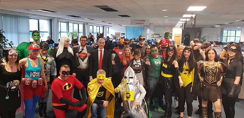eSpares Team in Costumes