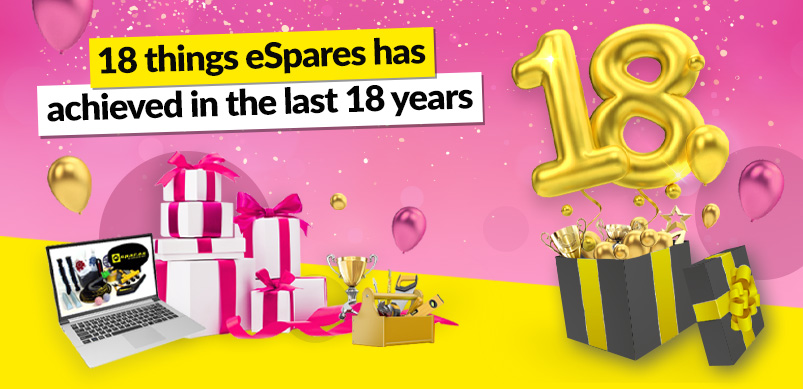 eSpares 18th Anniversary Celebration Banner
