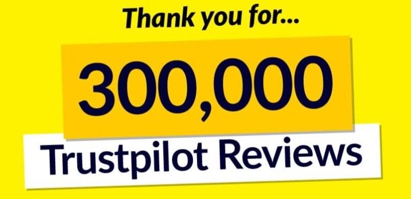 300,000 Trustpilot Reviews Banner