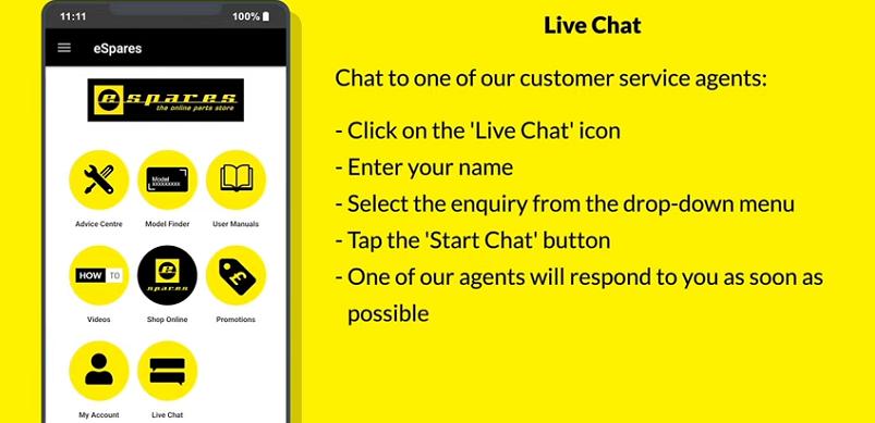 eSpares Live Chat