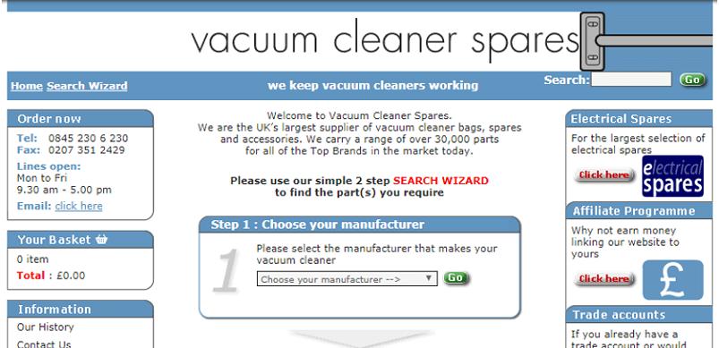 Old eSpares Website