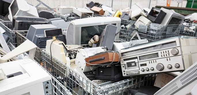 Electronic Devices At The Dump
