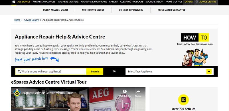 eSpares Advice Centre